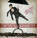 "Derek Bishop ""Bicycling In Quicksand"" CD cover and website link."