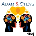 "Nhojj ""Adam & Steve"" art and website link."